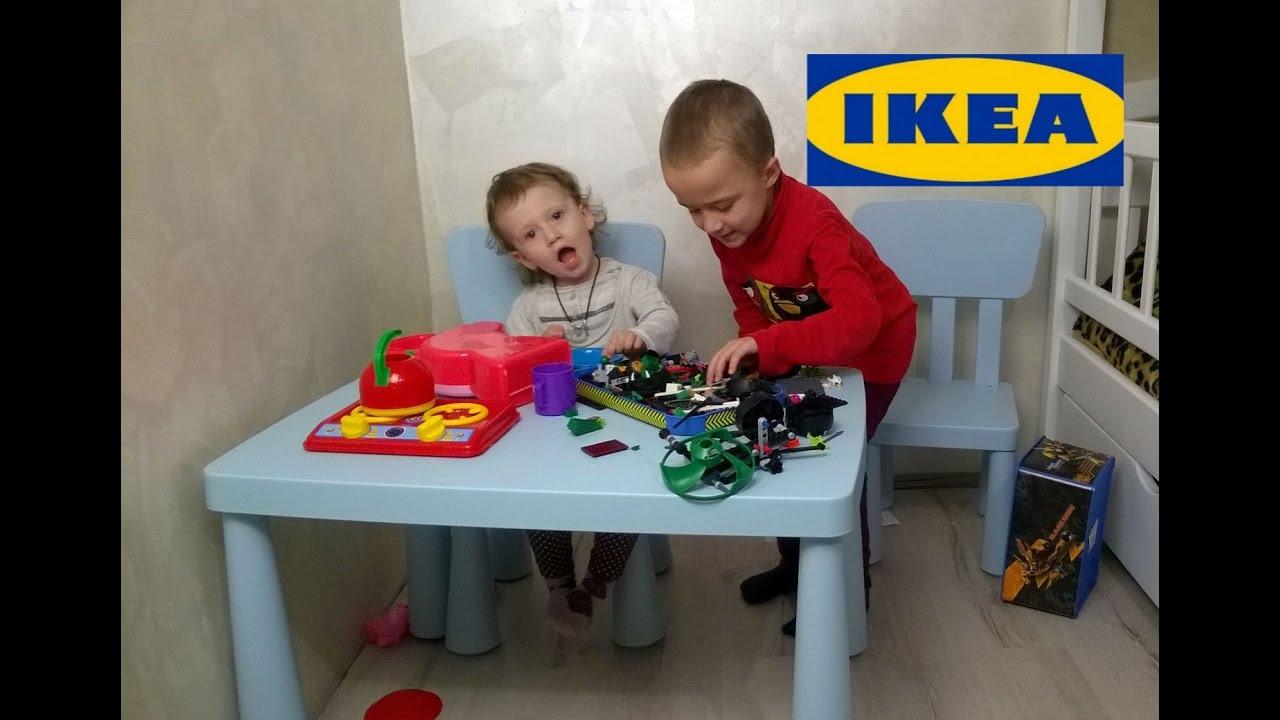 собираем стулстол Ikea Mammut распаковка отзывы сложности сборки