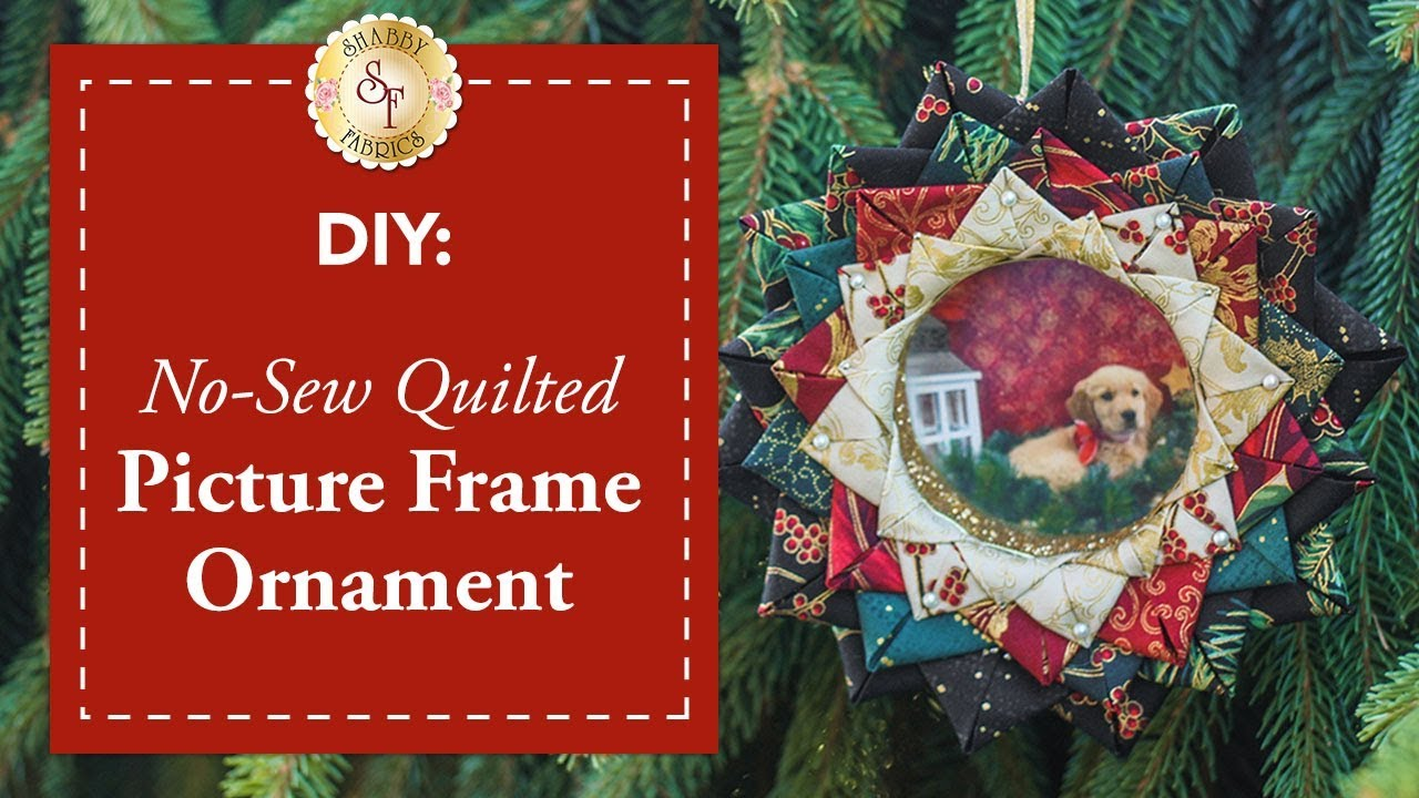 Diy No Sew Quilted Picture Frame Ornament A Shabby Fabrics