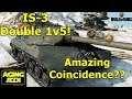 IS-3 1 vs 5 Back to Back Games! - World of Tanks