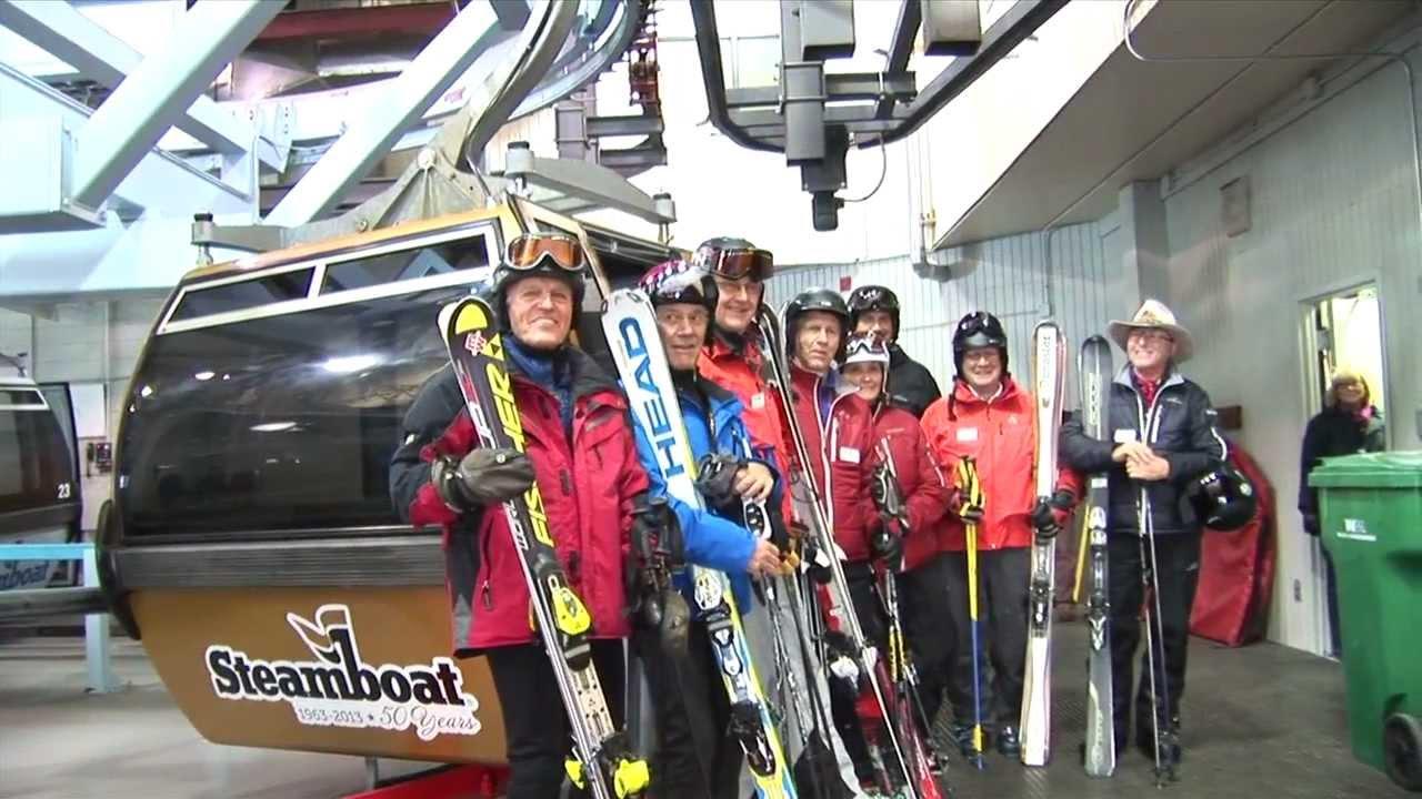 50th anniversary golden gondola cabin at steamboat ski resort youtube