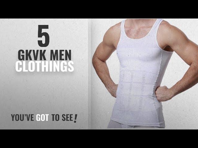 0c12209f4a76de Top 10 Gkvk Men Clothings   Winter 2018    GKVK Mens Slimming Body Shaper  Vest Shirt Abs Abdomen - YouTube