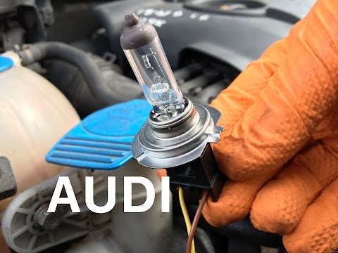 How to replace a dip/low beam bulb in an Audi A3 yourself