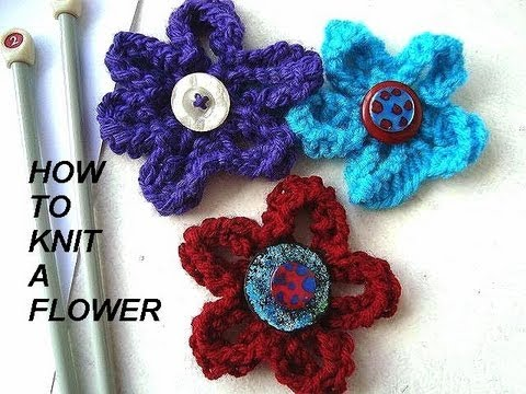 How To Knit A Flower Diy Knitted Flower For Brooches Hats Purses