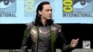 Tom Hiddleston as LOKI русские субтитры(FULL appearance)-Comic-Con 2013