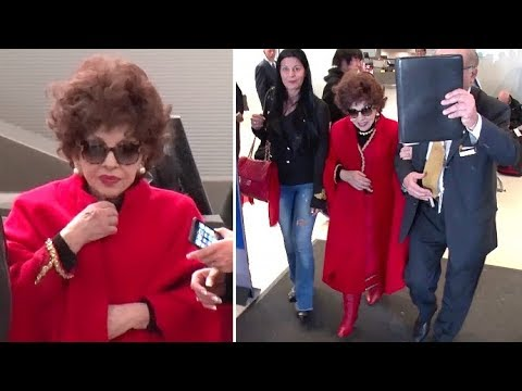 Italian Actress Gina Lollobrigida Stunning At 90, Arriving In L.A. To Be Honored At Italian Festival