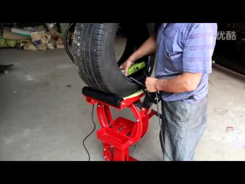 Tire Puncture Repair >> SCAPE New version tire expander machine SV667 tyre vulcanizing machine - YouTube