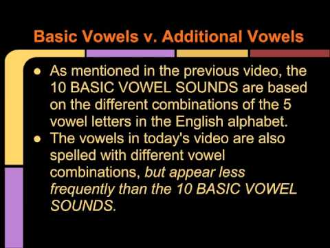 Intro to Speaking & Pronunciation: Video 5-Additional Vowel Sounds and Diphthongs