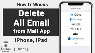 How to Delete All Email from Inbox - iPhone Mail App | Techie Prashant | HINDI