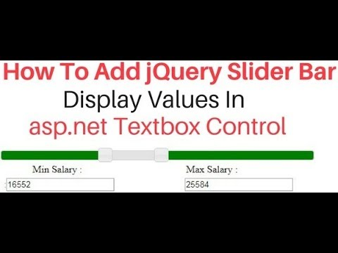 Jquery UI (3.3.1) Range Slider Values Display In Asp.net Textbox