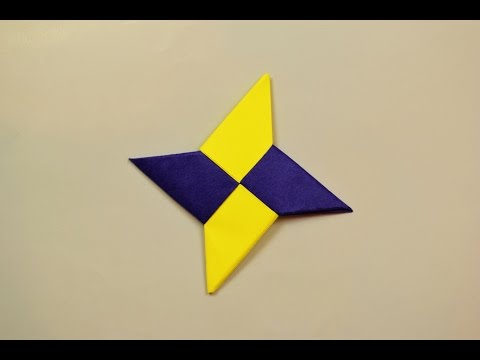 How to make a paper Ninja Star? (Shuriken)
