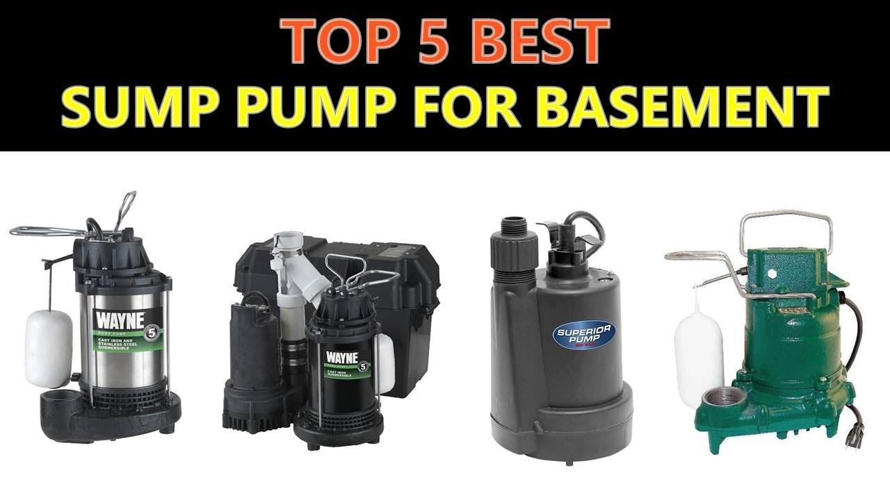 906a60c91b24 Best Sump Pump for Basement 2019 - YouTube