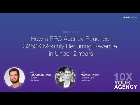 How a PPC Agency Reached $250k MRR in Under 2 Years