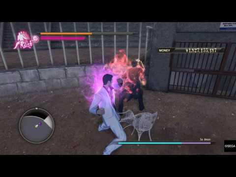 YAKUZA 0 Beating down Amon! |