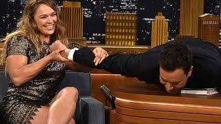 Ronda Rousey Puts Jimmy Fallon in an Armbar thumbnail