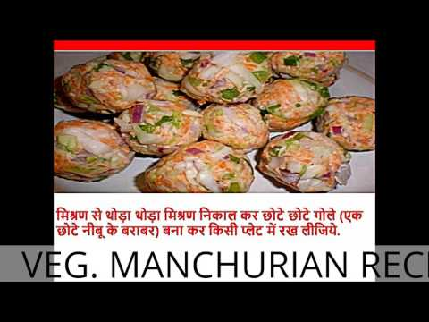 HOW TO MAKE VEG. MANCHURIAN IN HINDI RECIPE