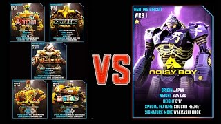 Real Steel WRB FINAL GOLD ROBOTS VS Noisy Boy Series of fights NEW ROBOT (����� �����)