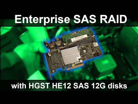 Enterprise SAS RAID Controller Into Desktop Pc With HGST HE12 SAS Hard Disks