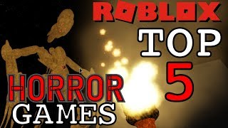 TOP 5 ROBLOX HORROR GAMES | #1