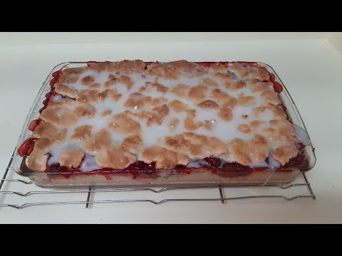 Cherry Bars Recipe - Easy Dessert - Perfect For A Crowd