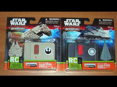 Star Wars Micro Machines! RC Vehicles Force Awakens!
