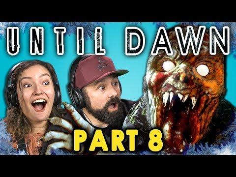 CRAZED MOUNTAIN ZOMBIE!? | UNTIL DAWN - Part 8 (React: Let's Plays)