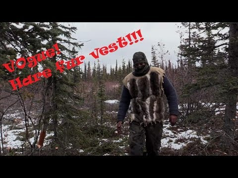 RABBIT FUR VEST    Made with hares hunted on Alone Season 6!!