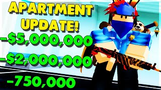*BUYING* ALL *3 NEW* APARTMENTS UPDATE! (ROBLOX MAD CITY)