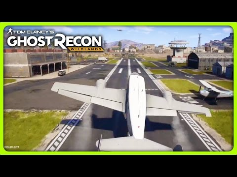 STEALING A PLANE FROM AN AIRPORT | Ghost Recon Wildlands Solo Free Roam