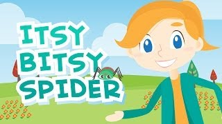 Itsy Bitsy Spider • Nursery Rhymes Song with Lyrics • Animated Cartoon for Kids