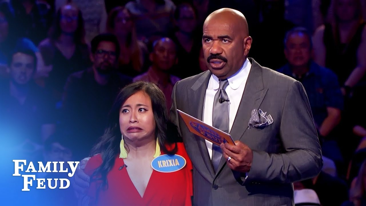 Steve Harvey shocks Krixia in Fast Money! | Family Feud