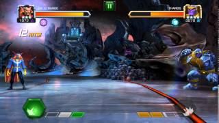 3 dr strange vs thanos 1 0 marvel contest of champions