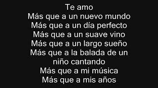 Te Amo - Alexander Acha - CON LETRA