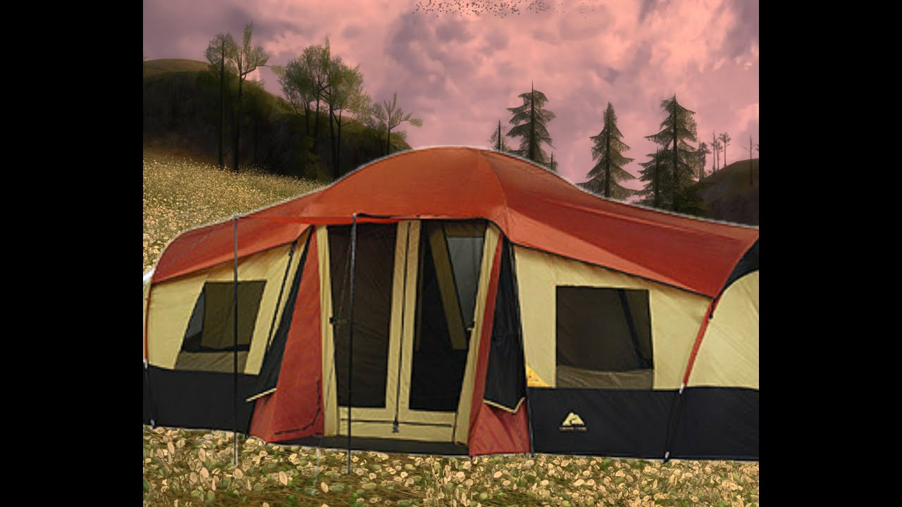 b735b5f59f Ozark Trail 3 room tent (part 1) - YouTube