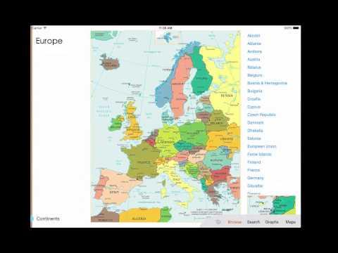 World Factbook Visual Edition - an iPad app