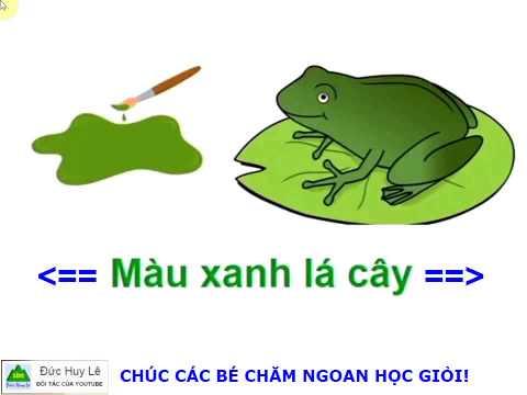 Dạy bé học màu sắc trong Tiếng Việt