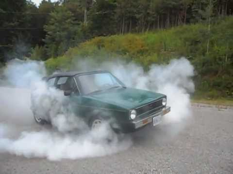 1985 Volkswagen Cabriolet Burnout - YouTube