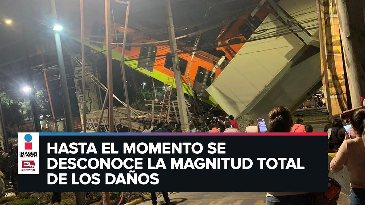 Al menos 23 muertos tras desplome de metro en México