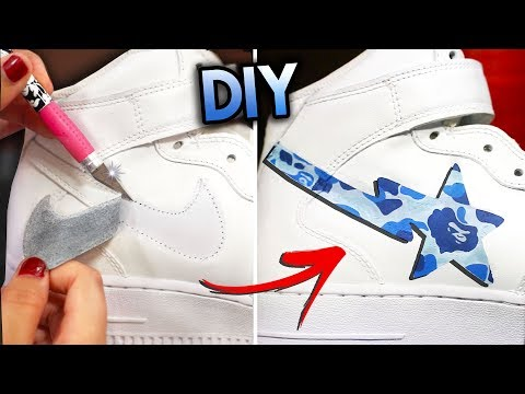 HOW TO: REMOVE THE NIKE SWOOSH & BAPESTA YOUR SHOES | AIR FORCE 1 CUSTOM