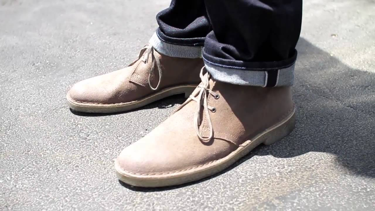 Clarks Suede Desert Taupe Chukka Boot - Details - YouTube