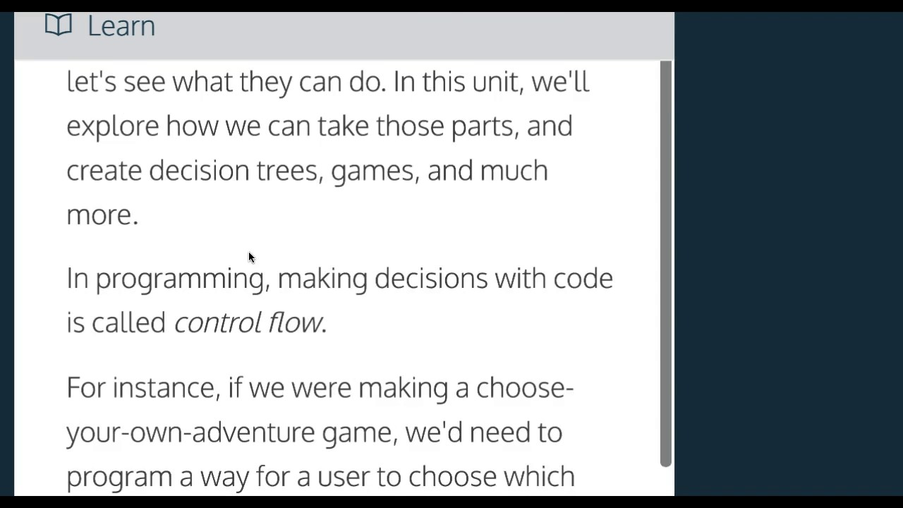 Learn Javascript, Introduction to Control Flow, codecademy, Javascript  Tutorial