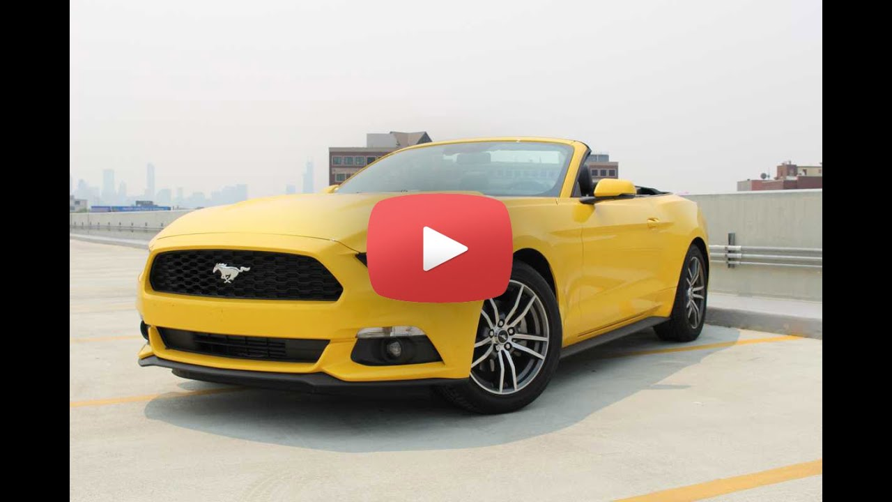 2015 ford mustang convertible review 2015 ford mustang test drive chicago news youtube. Black Bedroom Furniture Sets. Home Design Ideas