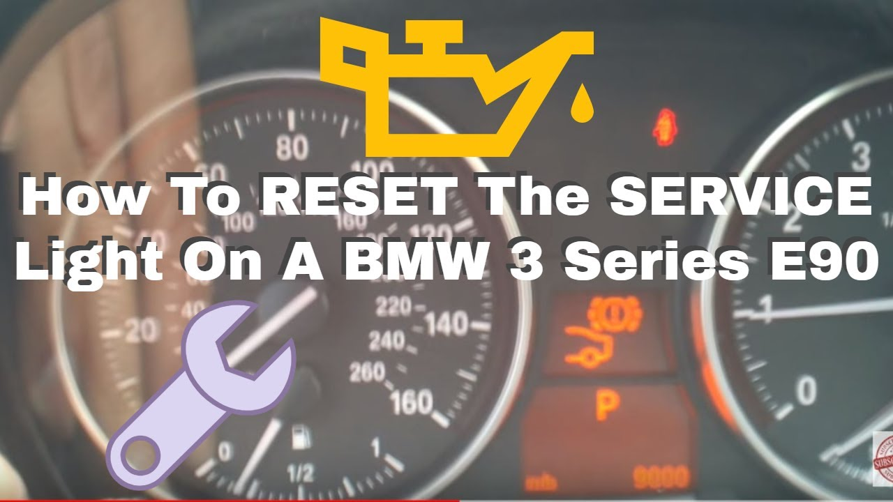 Bmw E90 Warning Light >> BMW Service Reset 3 Series E90 - YouTube