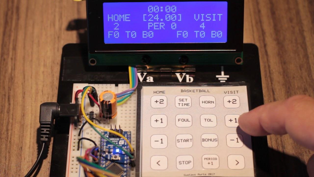 Basketbal Scoreboard Arduino Parte 2 Youtube Circuit
