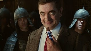 Snickers Mr Bean TV advert - Subtitled(Check out the new Snickers TV ad where Mr Bean demonstrates that you're not Kung Fu when you're #hungry., 2014-10-04T18:55:17.000Z)