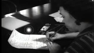 Young American men register for the Draft in Washington DC. HD Stock Footage