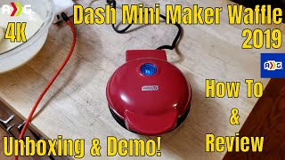 Dash Mini Maker Waffle Review & Demonstration | 4K |
