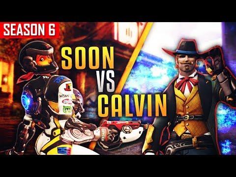 SOON (#1 TRACER EU) VS CALVIN (#1 MCCREE NA) [SEASON 6]