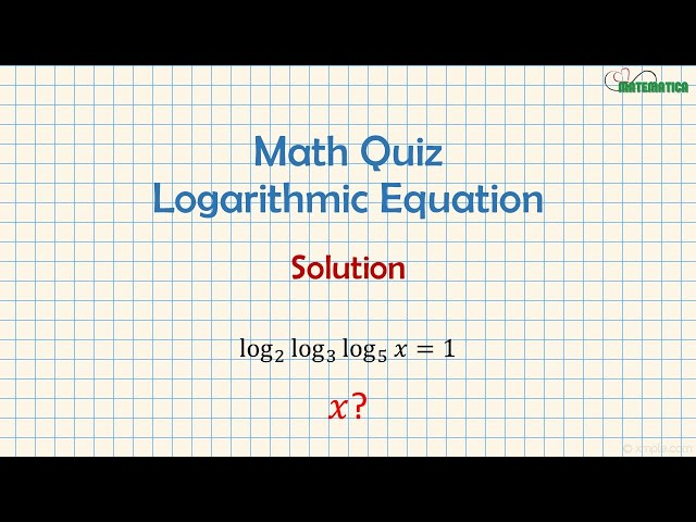 Logarithmic Equations | Equazioni Logaritmiche | Mathematics #6