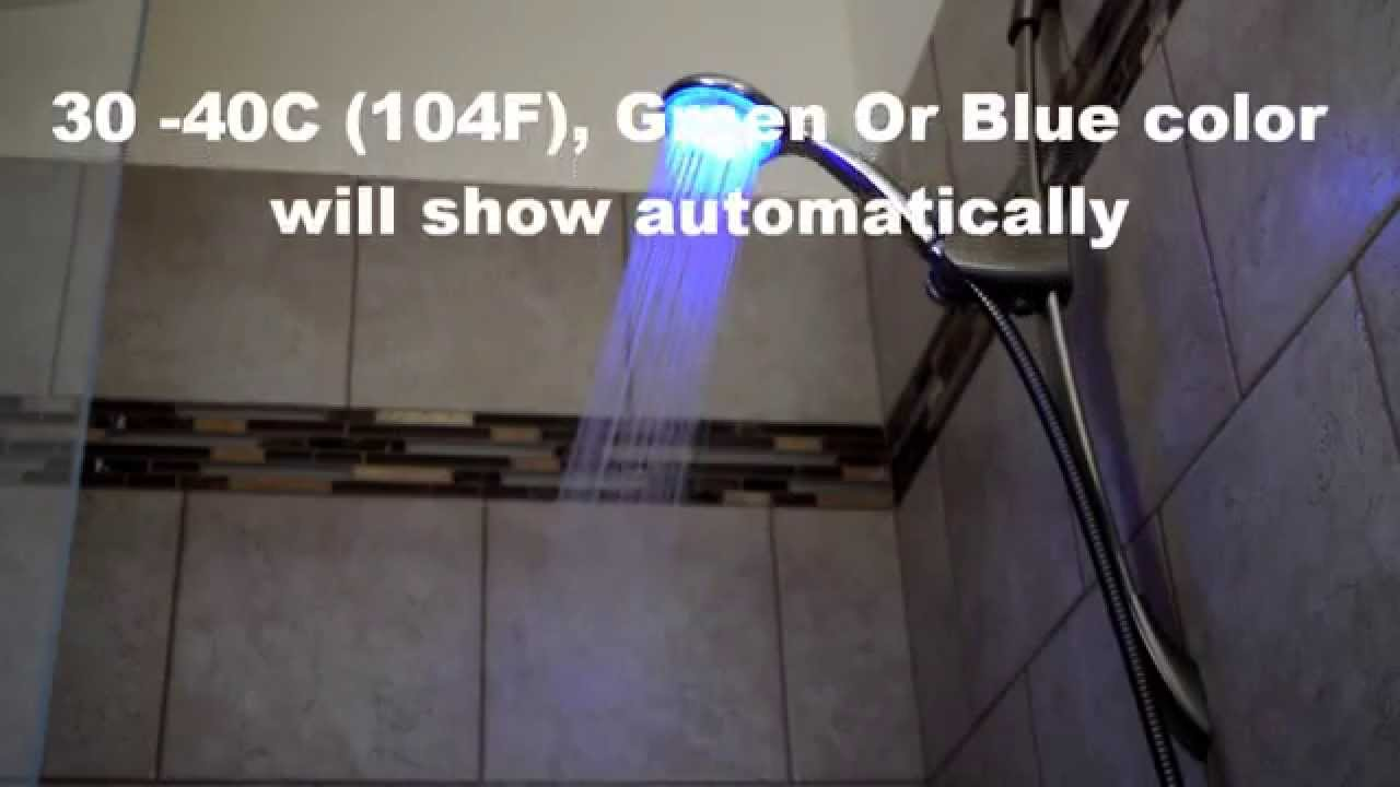 how to turn on led shower head