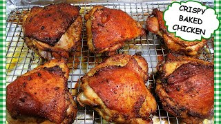 How To Make CRÏSPY CHICKEN in the Oven | BEGINNERS RECIPE | Oven Baked Chicken Thighs